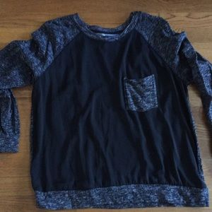 Lou & Grey mixed media sweatshirt